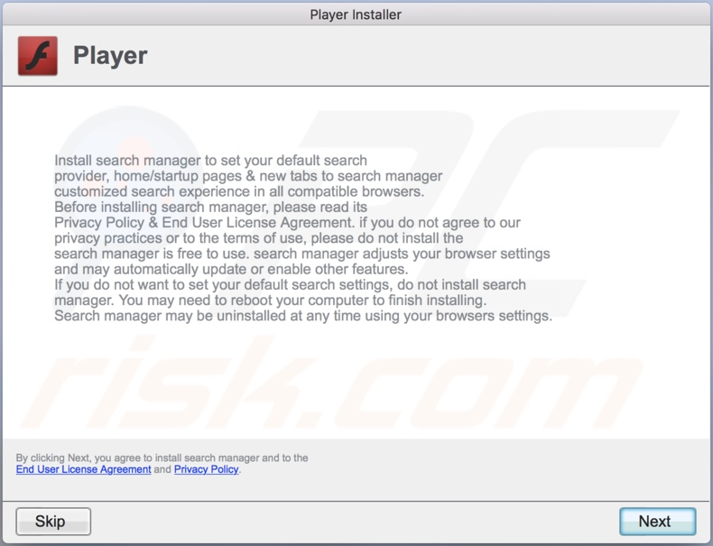 Delusive installer used to promote ProductiveRotator adware