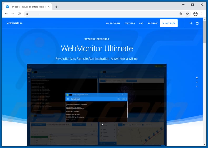 pagina di download del RAT webmonitor