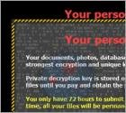 'Your personal files are encrypted' Virus